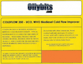 Coldflow 350 - Reduce Freezing Point to -15C (WVO/SVO Biodiesel)