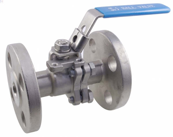 Ball Valve, Lever Handle, 316 Stainless Steel, 2-Pc ANSI 150 Flanged