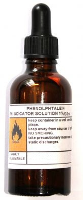Phenolphthalein, 1% PH Indicator Solution, 50ml