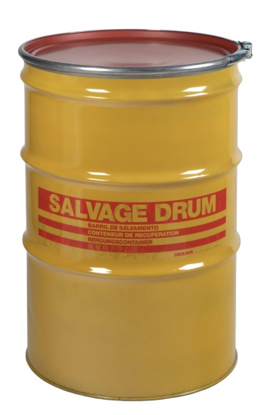 Air-Sea Containers, Code 262, UN Approved, Steel Salvage Drum, 210L