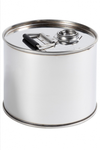 Air-Sea Containers, Code 603, UN Approved, Stainless Steel Drum, 12L