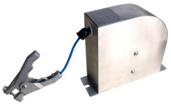 Alptec Static Grounding Reel, Stainless Steel, Spring Rewind, ATEX Approved