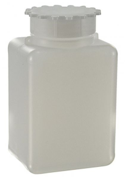 Sample Bottle, LDPE, Rectangular, Wide Mouth, 50ml to 2000ml, with eyelet for Security Seal