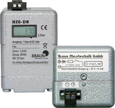 Braun HZ6 DR Digital Heating Oil Meter, 1.0 - 60.0 LPH