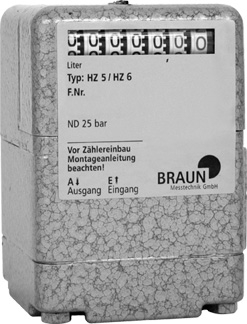 Braun HZ6 RR Heating Oil Meter, 1.0 - 60.0 LPH