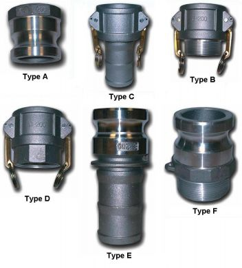 Cam and Groove Couplings, 316 Stainless Steel, BSP