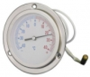 Capillary Thermometer / Temperature Gauge, Stainless Steel Case, Front Flange