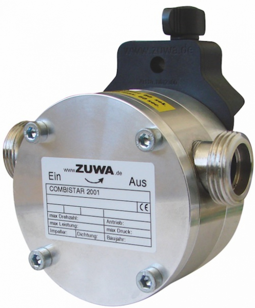 Zuwa Zumpe, Flexible Impeller Pumps, Shaft Driven with Drill Adaptor (Stainless Steel)