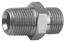 Cone Seat Nipple, Zinc Plated Steel, Metric to BSP