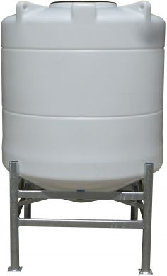 Conical / Cone Bottom, Food Grade LDPE Tank, 1000 Litre With Stand