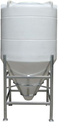 Conical / Cone Bottom, Food Grade LDPE Tank, 8000 Litre With Stand, 60 Deg Cone