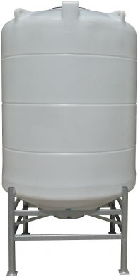 Conical / Cone Bottom, Food Grade LDPE Tank, 2700 Litre With Stand