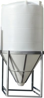 Conical / Cone Bottom, Food Grade LDPE Tank, 3150 Litre With Stand