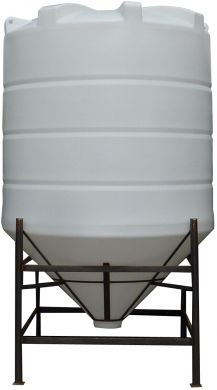 Conical / Cone Bottom, Food Grade LDPE Tank, 4900 Litre With Stand