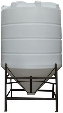 Conical / Cone Bottom, Food Grade LDPE Tank, 5900 Litre With Stand