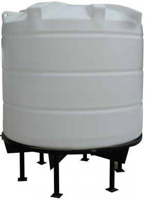 Conical / Cone Bottom, Food Grade LDPE Tank, 6200 Litre With Stand