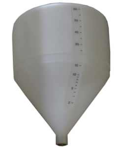 Conical / Cone Bottom, Food Grade LDPE Tank, 60 Litre, With Optional Stand