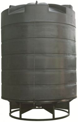 Conical / Cone Bottom, Food Grade LDPE Tank, 30000 Litre With Stand