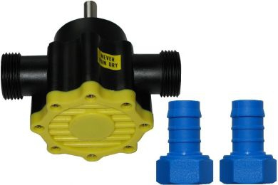 Toolzone, Flexible Impeller Pump, Shaft Driven / Drill Powered (Nylon), 50 lpm With Hose Tails