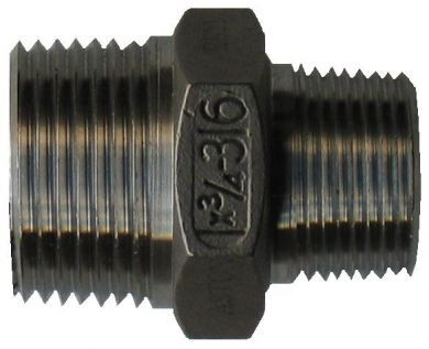 316 Stainless Steel, Reducing Hex Nipple MM, 150LB NPT