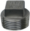 316 Stainless Steel Blanking Plug - Square Head, 150LB BSP
