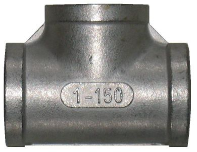 316 Stainless Steel Equal Tee, 150LB NPT