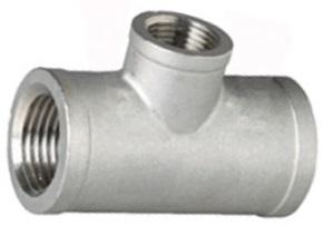 316 Stainless Steel, Reducing Tee, 150LB BSP