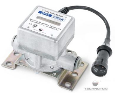 Technoton DFM Digital LCD Fuel Meter, With Pulse-Out for Engine Fuel Consumption