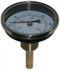 Stem Thermometer / Temperature Gauge, Brass Pocket