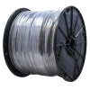 "Gammon GTP-1093, Galvanised Steel Grounding Cable, 1/8""OD, Clear Vinyl"
