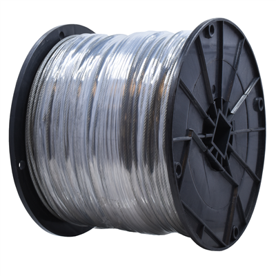 "Gammon GTP-1093, Galvanised Steel Grounding Cable, 1/8""OD, Clear Vinyl"