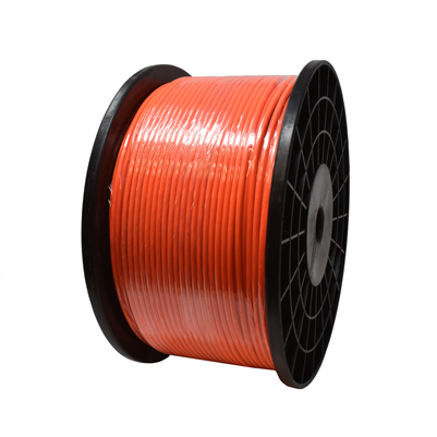 "Gammon GTP-1093HVO, Galvanised Steel Grounding Cable, 1/8""OD, High Visibility Orange Vinyl"
