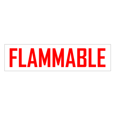 """Gammon GTP-2135-10, Flammable Decal, 3M, 6""""x24"""""""