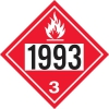 """Gammon GTP-2135-12, Flammable Liquid / NOS / Fuel Oil, 1993 DOT Marker Flammable Decal, 3M, 11"""" Square"""
