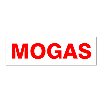 """Gammon GTP-2135-21, Mogas Decal, 3M, 5""""x6"""""""