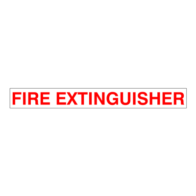 """Gammon GTP-2135-23, Fire Extinguisher Decal, 3M, 1,1/2""""x13,1/2"""""""