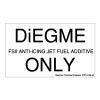 "Gammon GTP-2135-30, DiEGME FSII Anti-Icing Jet Fuel Additive Only, 3M, 3""x5"""