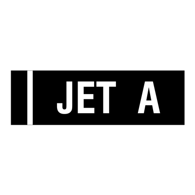 """Gammon GTP-2135-5, JET A Identification Decal, 3M, 5""""x16"""""""