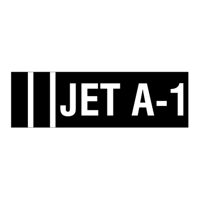 """Gammon GTP-2135-7, JET A-1 Identification Decal, 3M, 5""""x16"""""""