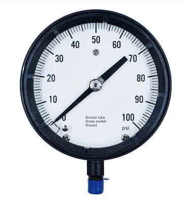 """Gammon GTP-281, 4,1/2"""" Dry Dial Pressure Gauge"""