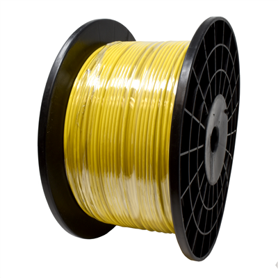 """Gammon GTP-2869V, Galvanised Steel Grounding Cable, 1/8""""OD, Kink-Resistant Bright Yellow Vinyl"""