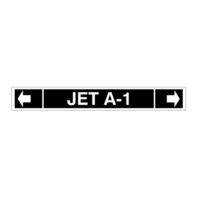 Gammon GTP-3255-A1-N, JET A-1 Pipe Decal (Narrow), 3M