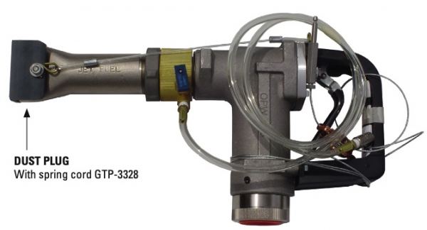 """Gammon GTP-3328, OPW-696J 1,1/2"""" Jet Spout Dust Plug with Spring Cord"""