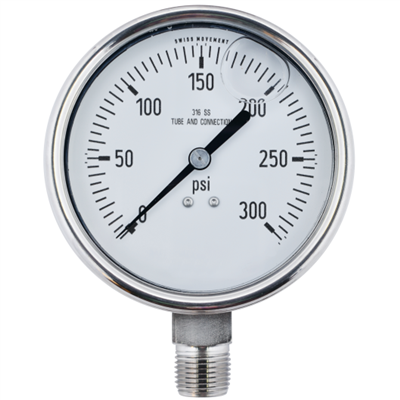 "Gammon GTP-586, 4"" Liquid Filled Pressure Gauges"