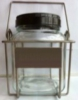 3.5 Litre Clear Glass Jar with Stainless Steel Wire Cage for Aviation Fuel Sampling