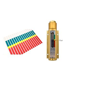 Gammon GTP-9721, Gammon Gauge Decal, Green/Yellow/Red