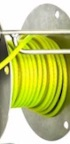 Grounding Cable, Green PVC High Visibility, 16x8x0.2 Braided Copper Core, 250m Reel