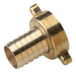 Brass Female Hose Tail, with NBR Rubber Gasket, BSP