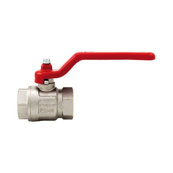 Itap Ideal 090 Ball Valve, Cast Lever Handle, Nickle Plated Brass, 2-Pc FF, BSP