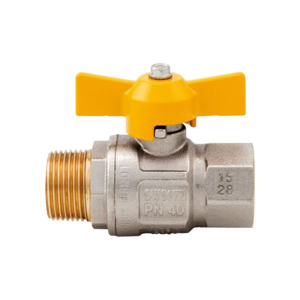 Itap London 069 Ball Valve, Tee Handle, Nickle Plated Brass, 2-Pc MF, BSP